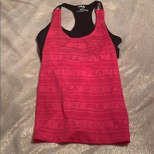 Fila sport workout tank with sports bra attached